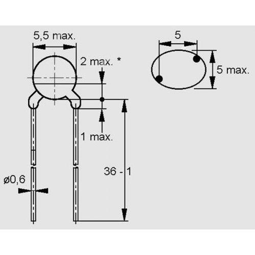 NTC Thermistor θερμοκρασίας σένσορας B164K0471K  Ohm Type NTC Epcos