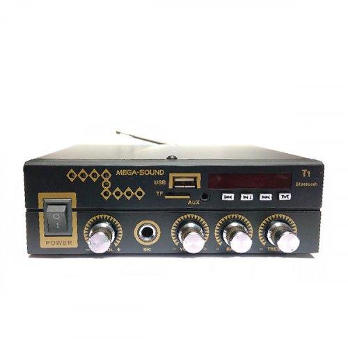 Ενισχυτής μικροφωνικός 20W 12VDC/230V MIC/USB//TF/FM/Bluetooth T1 MEGA-SOUND