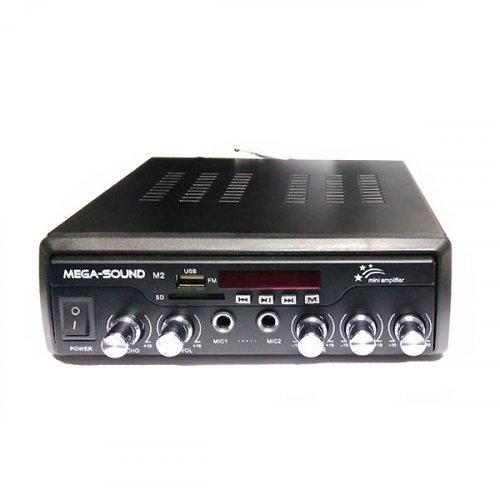 Ενισχυτής μικροφωνικός 25W 12V/230V 2xMIC/USB//SD/FM/Bluetooth M2 MEGA-SOUND