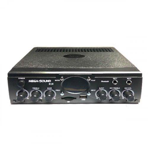 Ενισχυτής μικροφωνικός 30W 12VDC/230V 2xMIC/USB//SD/FM/Bluetooth 018 MEGA-SOUND