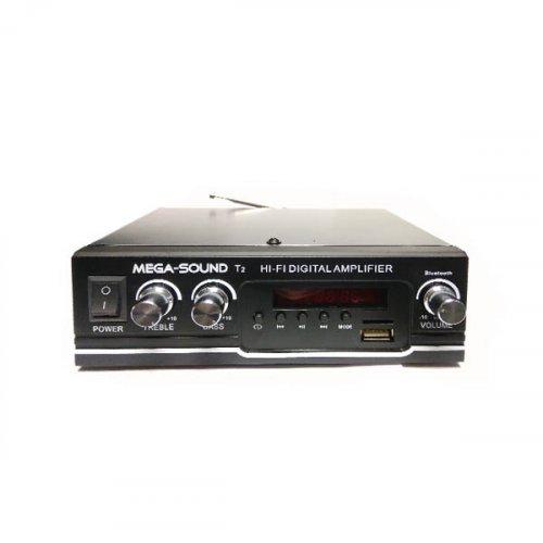 Ενισχυτής 20W 12VDC/230V USB/TF/FM/Bluetooth T2 MEGA-SOUND