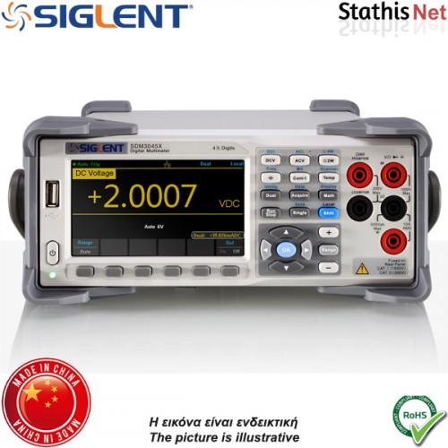 Πολύμετρο ψηφιακό πάγκου SDM3045X διπλής οθόνης 4 1/2 ψηφίων SIGLENT