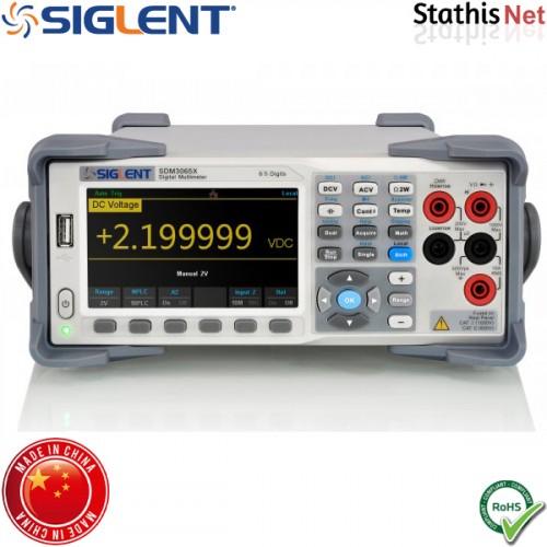 Πολύμετρο ψηφιακό πάγκου SDM3065X διπλής οθόνης 6 1/2 ψηφίων SIGLENT