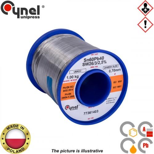 Κόλληση 1000gr 60/40 0,7mm S-SnPb40 Cynel