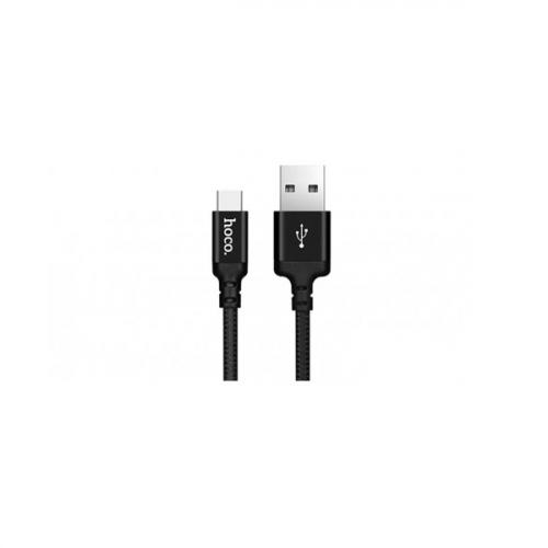 Καλώδιο φόρτισης & συγχρονισμού USB A -> Type C 1m full speed μαύρο X14 Hoco