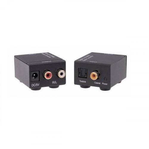 Mετατροπέας Ήχου, από Ψηφιακό Toslink (Οπτικό) ή RCA (Coaxial) ->2 x RCA Θηλυκά QA-C102 ANGA