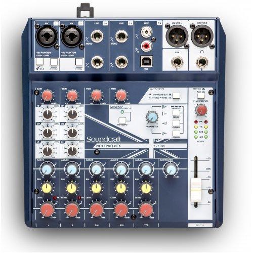 Μίκτης ήχου 8 καναλιών 2 mono/line 3 stereo NOTEPAD-8 Soundcraft
