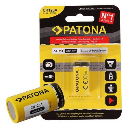 Μπαταρία Λιθίου 3,7V CR123A 700mAh BL1pc Patona
