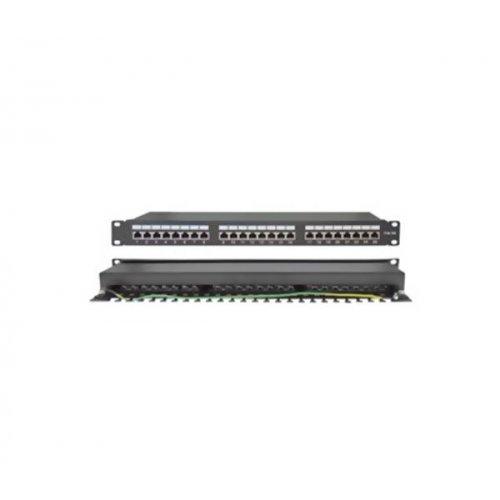 Patch panel STP CAT5e 24P + Cable Manager 1U PP5-30 SUT