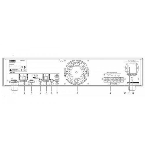 Ενισχυτής μικροφωνικός 60W 100V 4xMIC PLE-1ME060 EU BOSCH