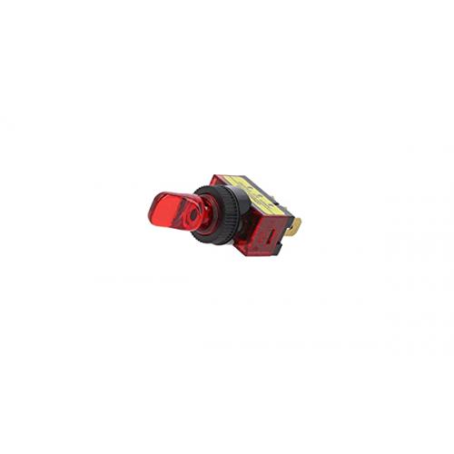 Διακόπτης toggle mini ON-OFF SPST 20A 12V DC 2P 17mm με λυχνία Κόκκινη R13-110B-01 SCI