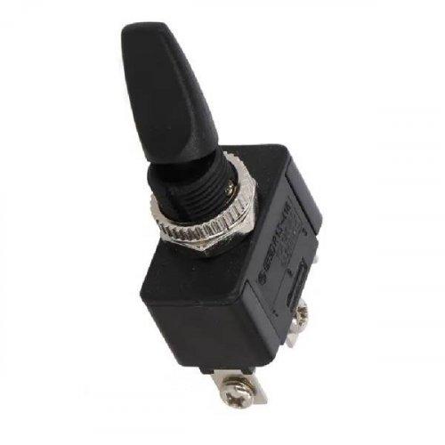 Διακόπτης toggle mini ON-OFF-ON SP3T 6A 230V AC  3P 16.8mm χωρίς λυχνία μαύρος R13-416D2 SCI