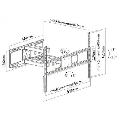 """Βάση LCD 37-70"""" LPA52-466 LLC"""
