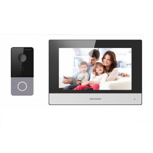 Θυροτηλέοραση + μπουτόν με κάμερα set ενσύρματο + wi-fi DS-KIS603-P Hikvision