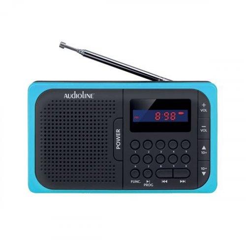 Ραδιόφωνο Φορητό Ψηφιακό Μαύρο-Μπλε TR-210 Audioline