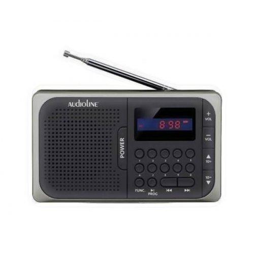 Ραδιόφωνο Φορητό Ψηφιακό Μαύρο- γκρι TR-210 Audioline
