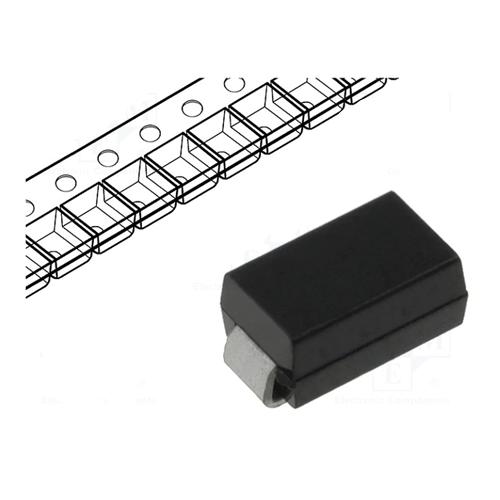 Δίοδος ανόρθωσης μονή 1.8µs 1000V 1A SMD S1M-E3/5AT Vishay