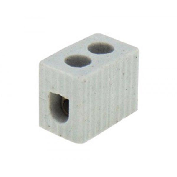 Κλέμα πορσελάνης 1pin 6mm² 5A 600°C 0512 FRH