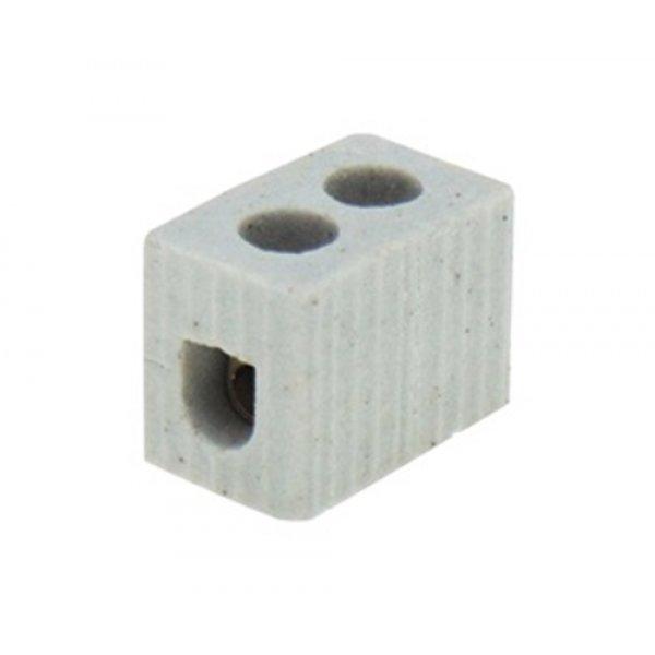 Κλέμα πορσελάνης 1pin 8mm² 10A 600°C 1012 FRH