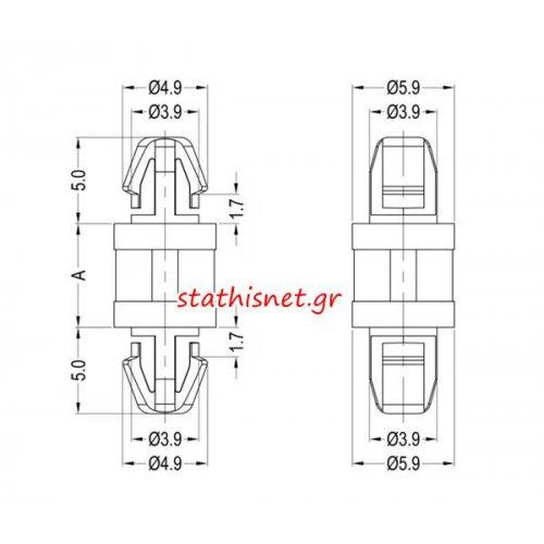 Αποστάτης πλαστικός 10mm PCB 8G817V40405 Dremec