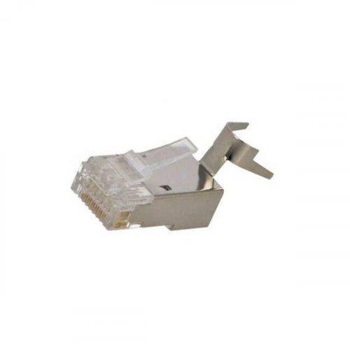 Φις τηλεφωνικό + Δικτύου 8P8C RJ45 αρσενικό module plug  STP CAT6a - 7 - 7a - CAT8.1 MP0033 Logilink