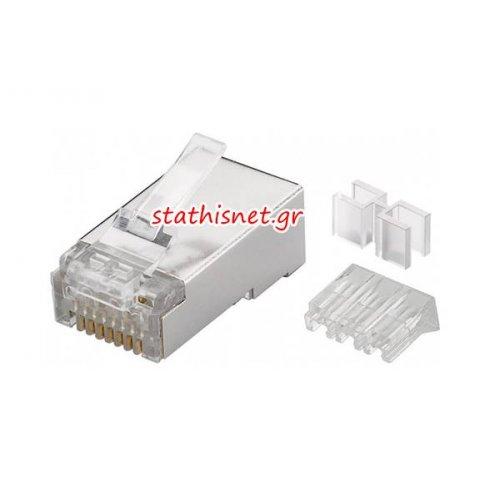 Φις τηλεφωνικό + Δικτύου 8P8C RJ45 αρσενικό module plug STP CAT6a MP0070 Logilink