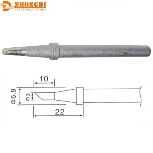 Μύτη κολλητηριού 3mm C1-3 για το σταθμό κόλλησης ZD98/99 Zhongdi