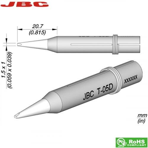 Μύτη κολλητηριού 1.5x1mm T-05D JBC