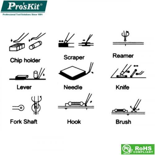 Εργαλεία κόλλησης σετ 6 τεμ 1PK-3616 Pro'skit