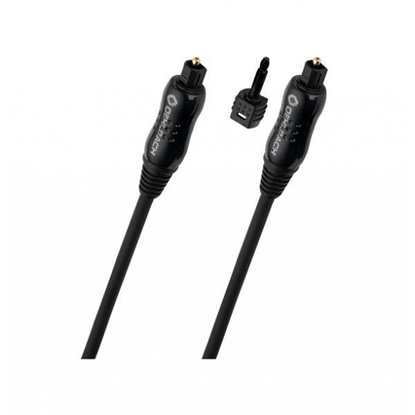 Καλώδιο οπτικής ίνας toslink -> toslink 1m μαύρο 66102 Oehlbach