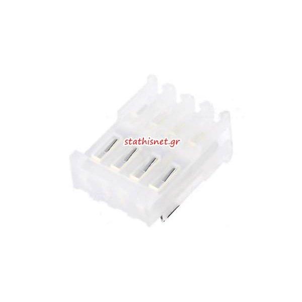 Κονέκτορας tinned straight θηλυκός for IDC wire-board 1x4 pin pitch 2,54mm CTP100F24-4-D-E Pancon