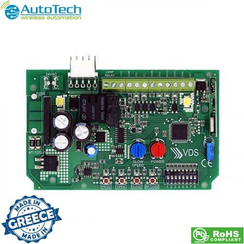 Πλακέτα ελέγχου κινητήρων 24 VDC με encoder για πόρτες οροφής 433,92 Mhz AT7070IT Autotech