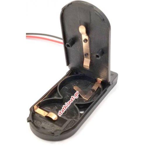 Μπαταριοθήκη 2 x CR2032 6V με καλώδιο και διακόπτη